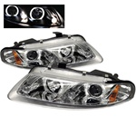 Dodge Avenger 97-00 / Sebring Coupe 97-00 Halo LED Projector Headlights - Chrome