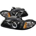 Dodge Caravan/Grand Caravan 96-00 / Chrysler Town & Country 96-00 / Chrysler Voyager 2000 Halo LED Projector Headlights - Black
