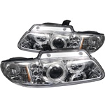 Dodge Caravan/Grand Caravan 96-00 / Chrysler Town & Country 96-00 / Chrysler Voyager 2000 Halo LED Projector Headlights - Chrome