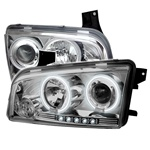 Dodge Charger 05-08 CCFL LED Projector Headlights - Chrome