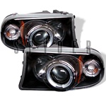 Dodge Dakota Halo 97-01 1PC Halo Projector Headlights - Black