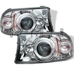 Dodge Dakota Halo 97-01 1PC Halo Projector Headlights - Chrome