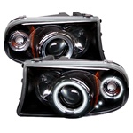 Dodge Dakota Halo 97-01 1PC CCFL Projector Headlights - Black