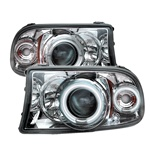 Dodge Dakota Halo 97-01 1PC CCFL Projector Headlights - Chrome