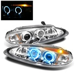 Dodge Intrepid 98-04 Halo LED Projector Headlights - Chrome