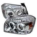 Dodge Magnum 05-07 CCFL LED Projector Headlights - Chrome