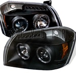 Dodge Magnum 05-07 Halo LED Projector Headlights - Black
