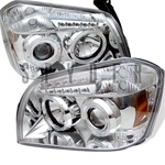 Dodge Magnum 05-07 Halo LED Projector Headlights - Chrome