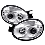 Dodge Neon 03-05 Halo LED Projector Headlights - White