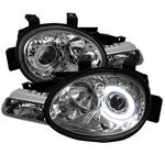 Dodge Neon 95-99 Halo Projector Headlights - Chrome