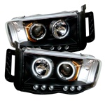 Dodge Ram 02-05 CCFL LED Projector Headlights - Black