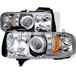 Dodge Ram 94-01 1PC Halo LED Projector Headlights - Chrome