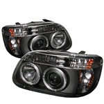 Ford Explorer 95-01 1PC Halo Projector Headlights - Black