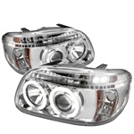 Ford Explorer 95-01 1PC Halo Projector Headlights - Chrome