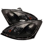 Ford Focus 00-04 DRL LED Projector Headlights - Black
