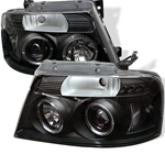 Ford F150 04-06 Halo LED Projector Headlights - Black