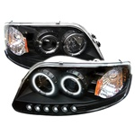 Ford F150 97-03 ( Will Not Fit Anything Before Manu. Date June 1997 ) 1PC CCFL LED Projector Headlights - Black