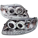 Ford F150 97-03 ( Will Not Fit Anything Before Manu. Date June 1997 ) 1PC CCFL LED Projector Headlights - Chrome