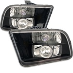 Ford Mustang 05-08 Halo Projector Headlights - Black
