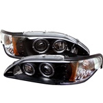 Ford Mustang 94-98 1PC Halo LED Projector Headlights - Black