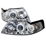 Ford Mustang 99-04 CCFL Projector Headlights - Chrome