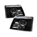 Ford Ranger 98-00 Halo Projector Headlights - Black