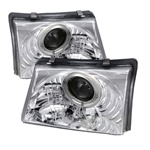 Ford Ranger 98-00 Halo Projector Headlights - Chrome