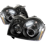 Jeep Grand Cherokee 05-07 Halo LED Projector Headlights - Black
