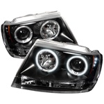 Jeep Grand Cherokee 99-04 CCFL LED Projector Headlights - Black
