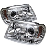 Jeep Grand Cherokee 99-04 Halo LED Projector Headlights - Chrome