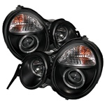 Mercedes Benz W210 E-Class 95-98 Halo Projector Headlights - Black