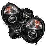 Mercedes Benz W210 E-Class 99-01 Halo Projector Headlights - Black
