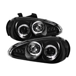 Mazda MX3 92-96 Halo LED Projector Headlights - Black