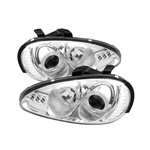 Mazda MX3 92-96 Halo LED Projector Headlights - Chrome