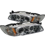 Pontiac Grand Prix 97-03 1PC Halo Projector Headlights - Chrome