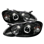 Toyota Corolla 2003-2008 Halo Projector Headlights - Black