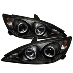 02-06 Toyota Camry Halo Projector Headlights - Black