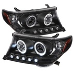 Toyota Land Cruiser 08-09 Halo Projector Headlights - Black