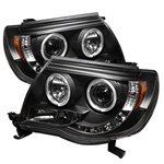 Toyota Tacoma 05-07 Halo LED Projector Headlights - Black