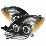 Toyota Yaris 06-08 2DR Halo Projector Headlights - Black
