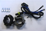 HID bulb adapters (one pair) w/ wire