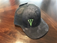 Black Kryptek Camo Front and a Black Mesh Snapback
