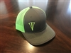 Grey and Dryka Green Mesh Snapback