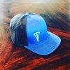 Police Blue and Black Dagger Snapback