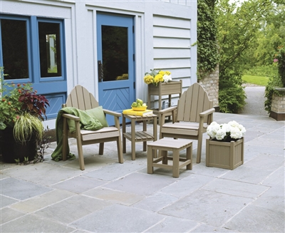 Adirondack Dining Chairs are comfortable enough to use with or without a table