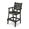 Bar Height Chippendale Chair with Wide Slat Back