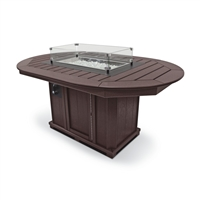 "44"" x 66"" Oval Fire Table Bar Height"