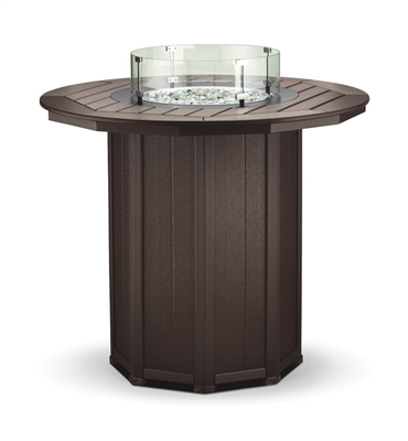 "51"" Round Framed Bar Height Fire Table"