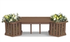 Backless Planter Bench