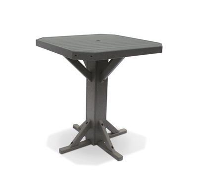 "38"" Square Bar Height Pedestal Table"